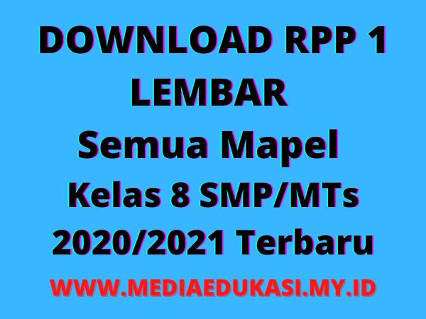 RPP 1 Lembar Kelas 8 SMPMTs Semua Mapel Kurikulum 2013 Revisi 2020-2021