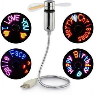 Unique gift for her to propose in style USB fan with personalized message