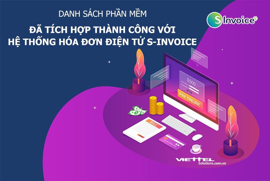 Ảnh minh họa: Danh sách phần mềm đã tích hợp thành công với hệ thống hóa đơn điện tử S-Invoice