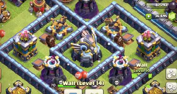 New Levels wall in COC