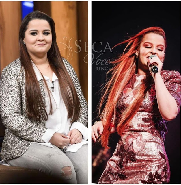 Mayra Cardi mostra Maiara dupla de Maraisa antes e depois de emagrecer 11 kg com dieta.