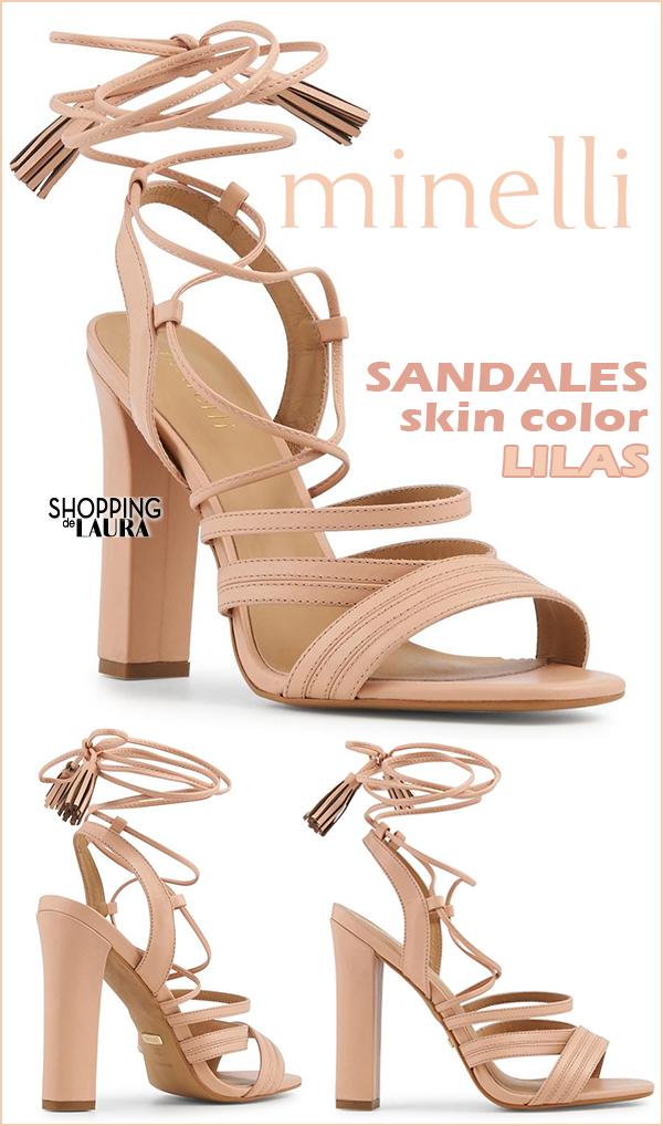 minelli sandales à talons hauts blanc