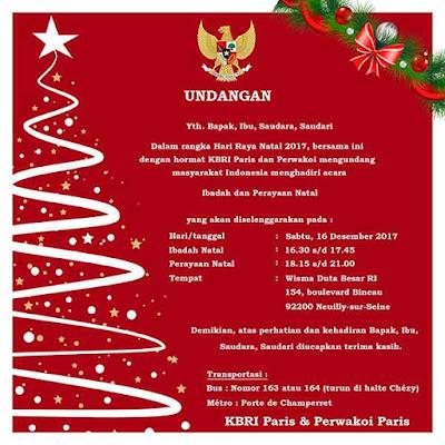 contoh iklan undangan natal