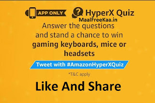 Amazon HyperX Quiz Answer Win