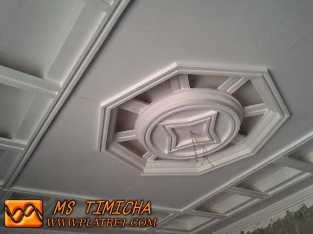 Plâtre plafond salon