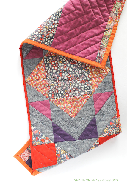 Modern Aztec quilted table runner | 7 handmade gift ideas for Mother's Day | Shannon Fraser Designs