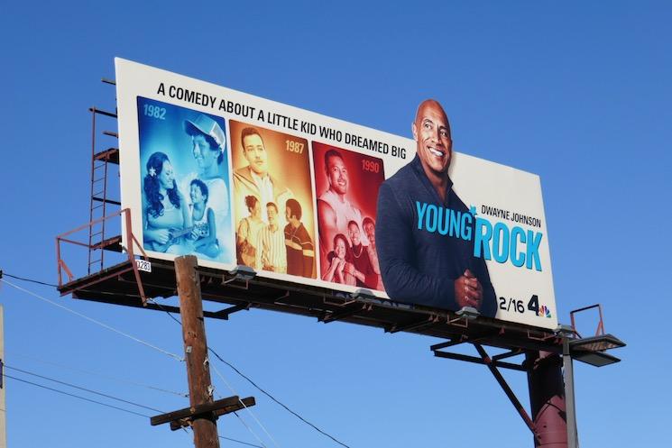 Young Rock season 1 billboard