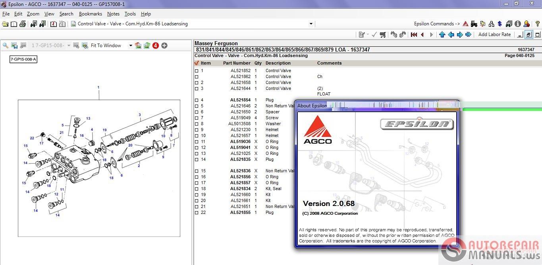 Free Auto Repair Manual : MASSEY FERGUSON Europe Parts Catalog [032015]