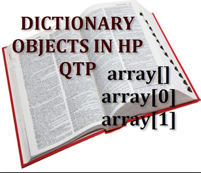 Difference between dictionary and array in QTP