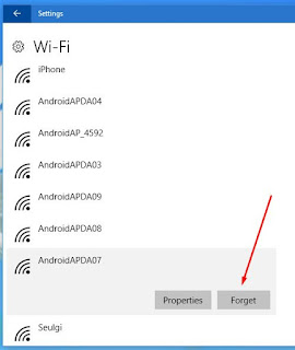 cara forget password wifi windows 10