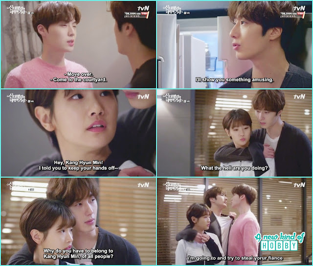 hyun min & ji woon fight over ha won  - Cinderella and Four Knights - Episode 4 Review