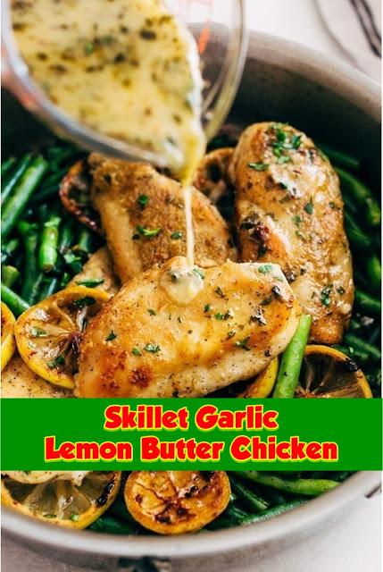 #Skillet #Garlic #Lemon #Butter #Chicken