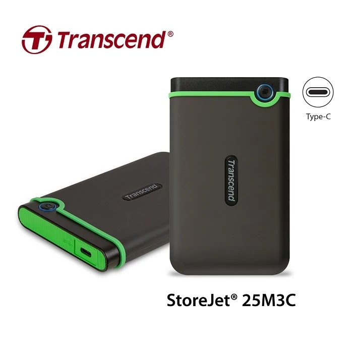 Transcend StoreJet 25M3C Ruggedized External Hard Drive