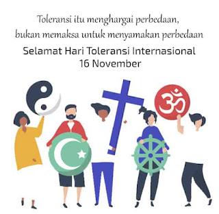 kata kata ucapan hari toleransi internasional