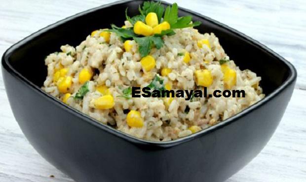 கார்ன் புலாவ் ரெசிபி | Corn Pulao Recipe !