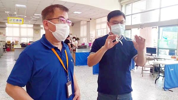 守護鹿港鎮公所第一線防疫員 金可集團捐護目鏡回饋鄉里