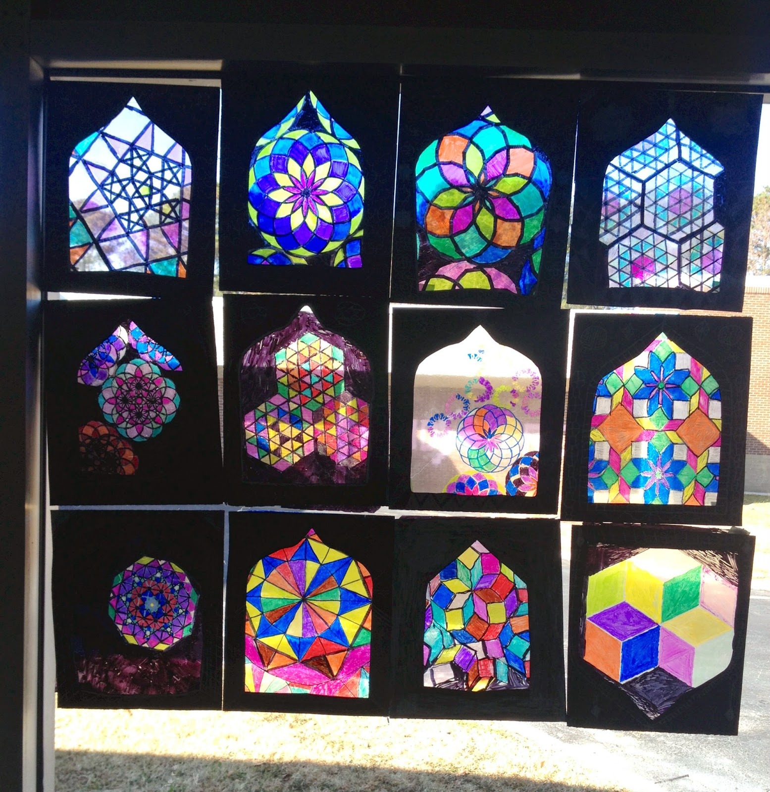 Lesson plan islamic stained glass windows artful artsy amy for Art glass windows