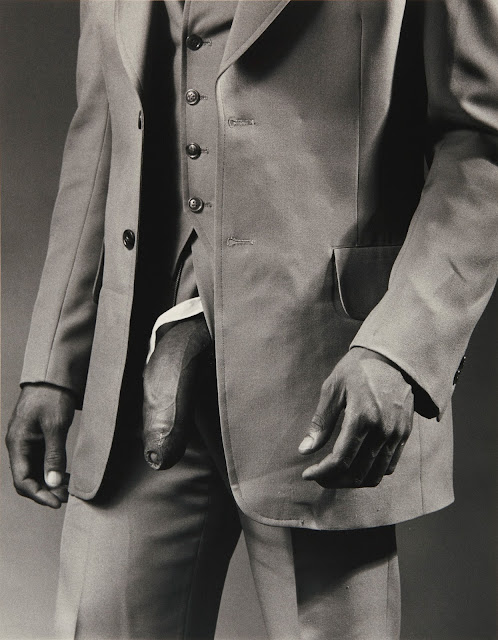 Man in a Polyester Suit by Robert Mapplethorpe (1980)