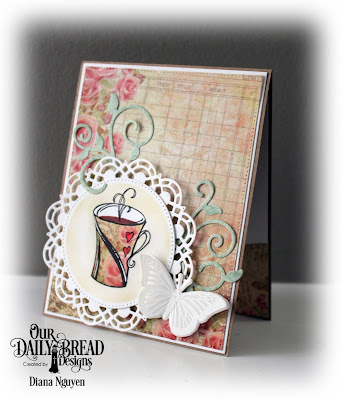 Diana Nguyen, My Soul Thirsts, Our Daily Bread Designs, Doily, tea, Rustic Beauty