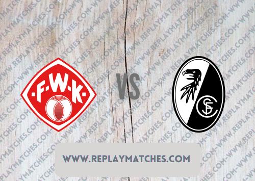Würzburger Kickers vs Freiburg -Highlights 08 August 2021