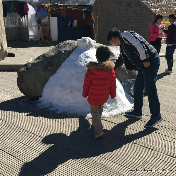 Himalayan snowman in Sichuan Province, China