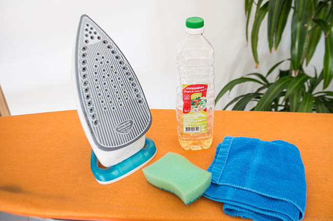 limpar ferro de passar com vinagre