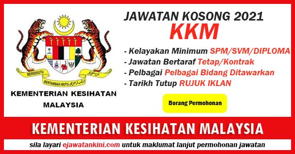 jawatan kosong kerajaan kementerian kesihatan malaysia 2021