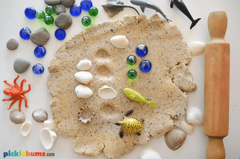 Sand dough no cook recipe