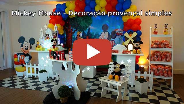 Vídeo decoração provençal simples Mickey Mouse