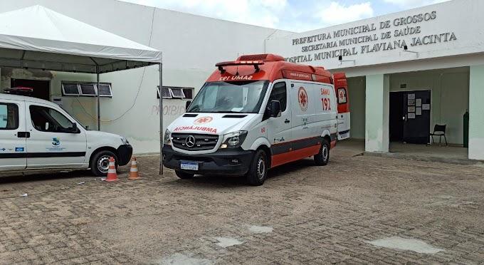 Paciente com suspeita de Covid-19 é transferida do hospital de Grossos para Mossoró pelo SAMU