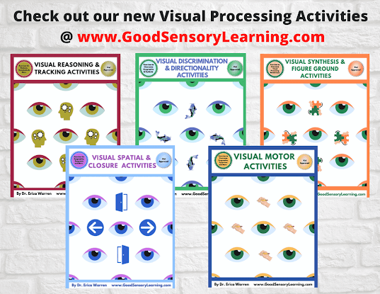 cover pages of visual processing activities