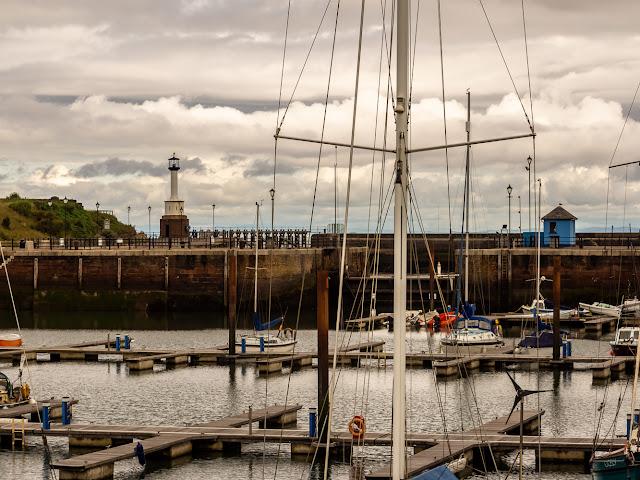 Photo of clouds at Maryport Marina on Saturday morning