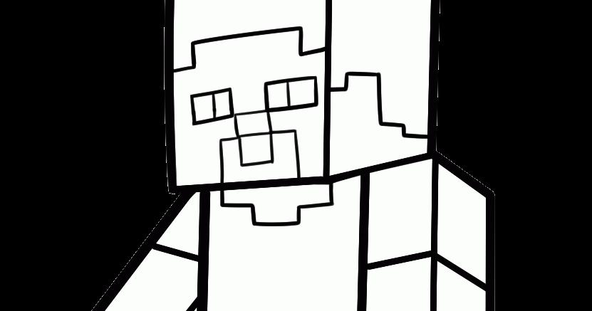 Minecraft Para Colorear: COLOREAR STEVE MINECRAFT