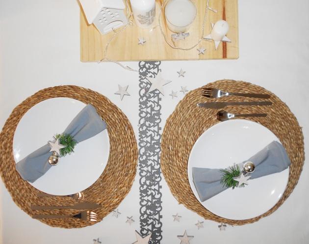Salvamanteles ratán navidad