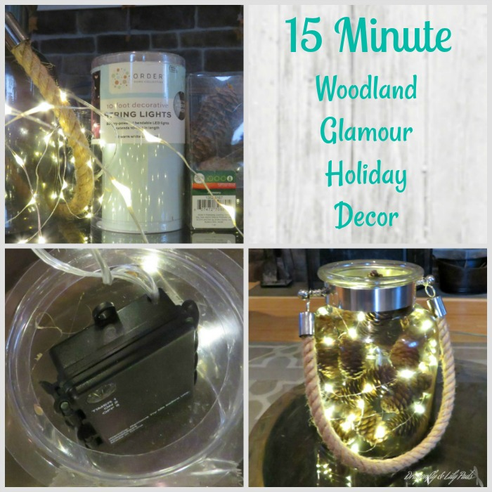 D&LP Pinterest Image of Woodland Glam Holiday Decor, 15 Minutes