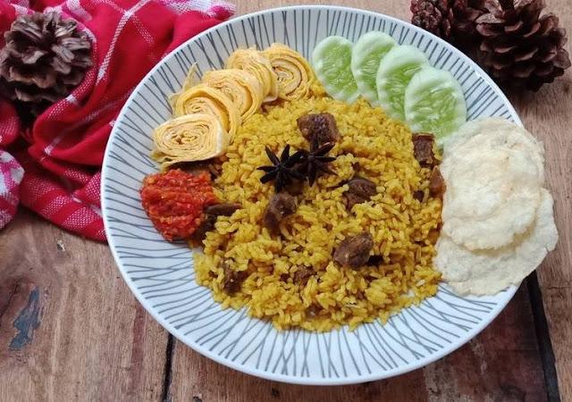 cara membuat nasi kebuli menggunakan rice cooker, resep rice cooker, menu enak dan mudah