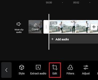 open the edit menu