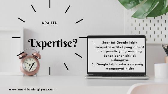 belajar SEO algoritma google Expertise