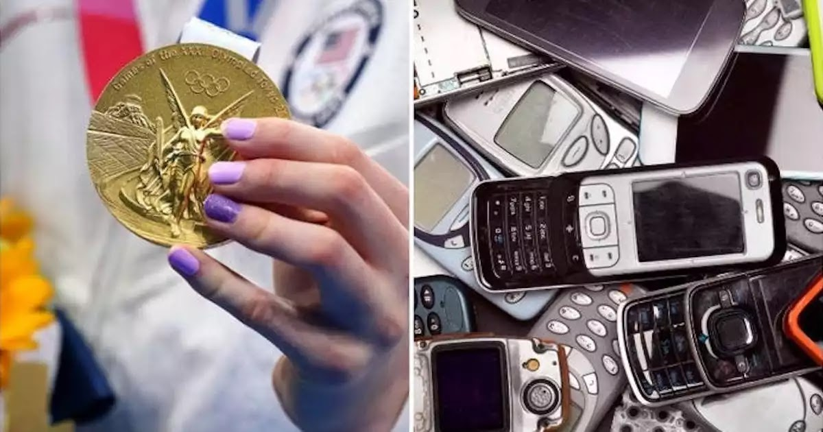 Medals For The 2020 Tokyo Olympics Were Made From 78,985 Tons Of Recycled Electronic Devices, Including Cell Phones