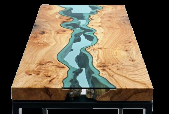 meja unik lucu konsep laut