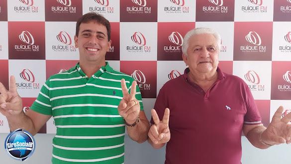 Reeleito prefeito, Arquimedes Valença  junto com seu vice Túlio Monteiro foram os  entrevistados desta terça-feira  na Buíque FM