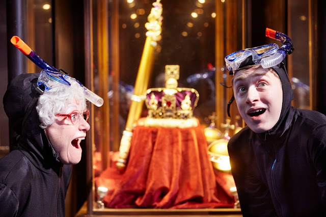Granny and Ben with the Crown Jewels