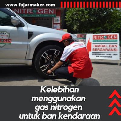 Kelebihan menggunakan gas nitrogen untuk ban kendaraan