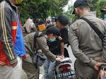 65 orang terjaring Kegiatan Razia Masker di Jl Ir. H. Juanda Samarinda