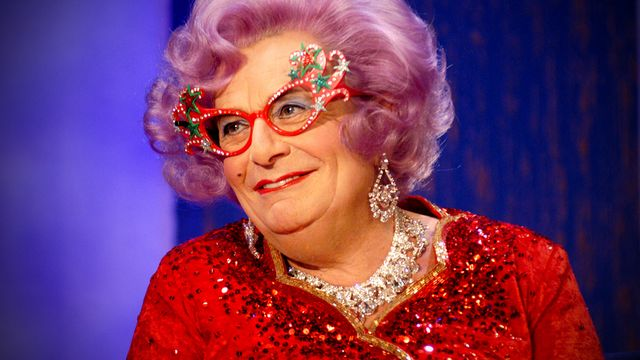 Barry Humphries stars as Dame Edna Evergae in Eat, Pray, Laugh at the London Palladium