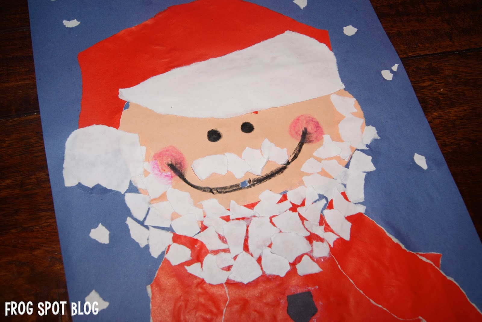 if you have not done many torn paper projects it may be surprisingly challenging and daunting for your students especially the ones that like things to - Santa Pictures For Kids