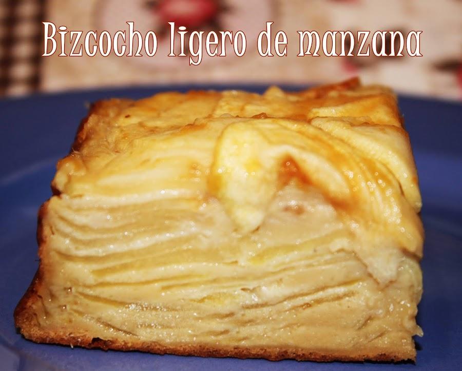BIZCOCHO LIGERO DE MANZANA