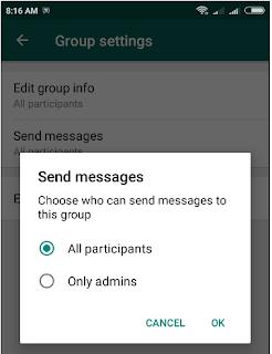 Cara Membuat Grup WA Hanya Admin yang Bisa Chat