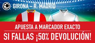 sportium promocion 25 euros Girona vs Real Madrid 29 octubre