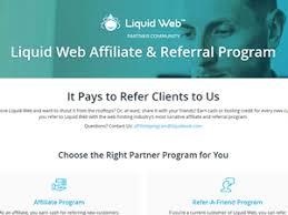 Liquid web web hosting affiliate program